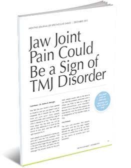 jaw joint pain could be sign of tmj